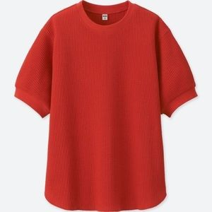 Uniqlo 1/2 sleeve waffle shirt